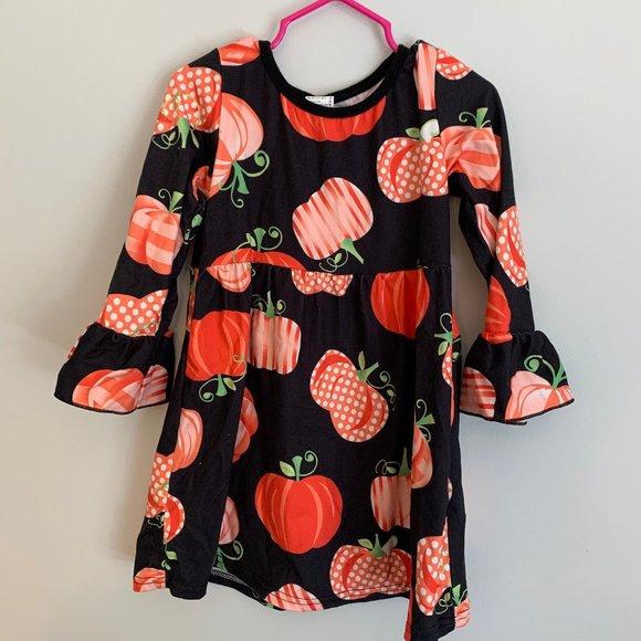Nwot Fall Girls Boutique Pumpkin Dress size 6//7